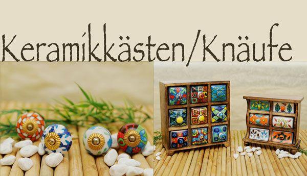 Keramikkästen / Knäufe