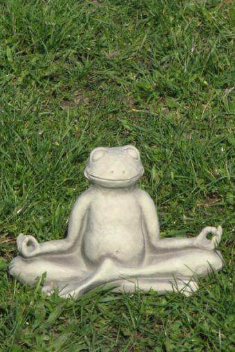 Vidroflor - Yoga-Frosch, Steinguss