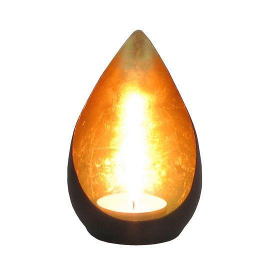 Goldlicht Flame, Innen bronzen/golden, ca. 11 cm