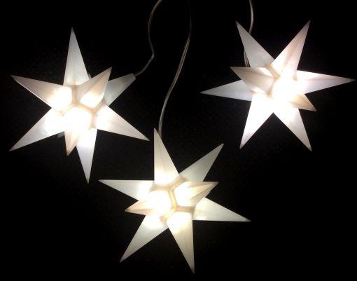 Leuchtstern Starled 3er Lichterkette weiß