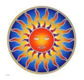 Fensterbild Sonne