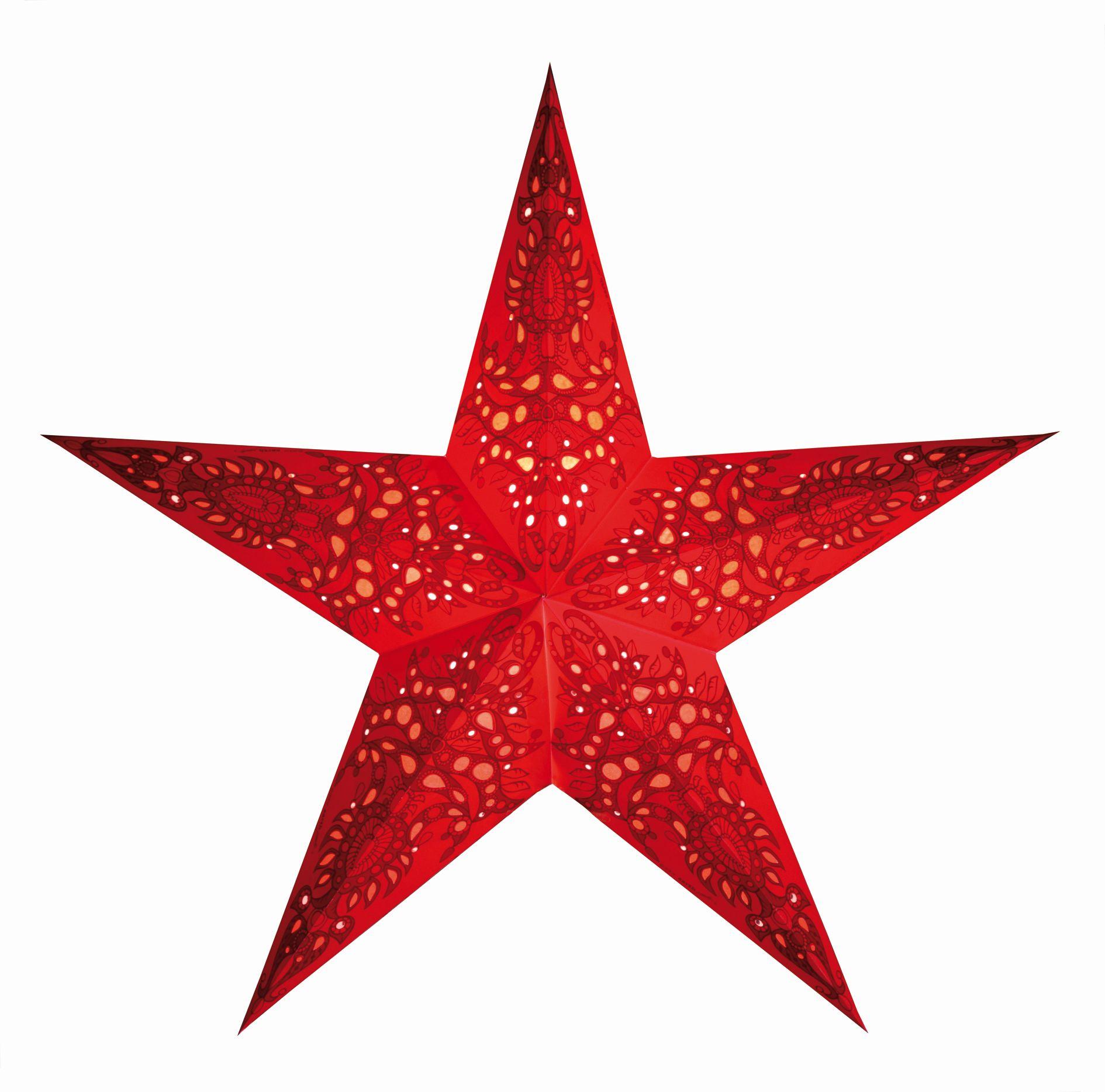 starlightz leuchtstern mono red mit verstromung roemer. Black Bedroom Furniture Sets. Home Design Ideas
