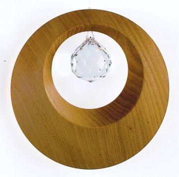 Holz-Kristall-Objekt Harmony Ring 8 cm