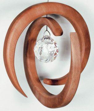 Holz-Kristall-Objekt Helix