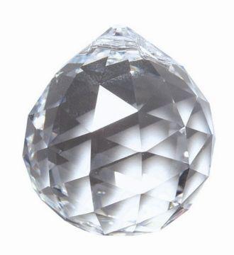 Kristall Kugel, bleifrei, 30 mm