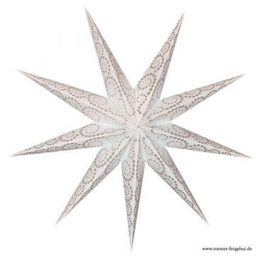 Leuchtstern outdoor anemone weiß/glitter