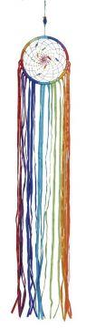 Dreamcatcher Feenwind, bunte Bänder, ca. 70 cm