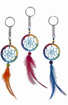 Dreamcatcher Schlüsselanhänger blau