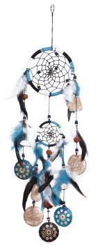 Dreamcatcher, BW/Kokos, türkis, ca. 12 cm