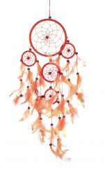 Dreamcatcher, 5er, orange/gelb