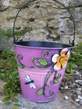HAPPY METALL Blumenübertopf Flowerpot pink