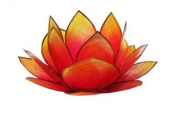 Lotus-Licht Sonnenaufgang pink-orange
