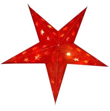 Leuchtstern baby lotus rot mit Magnetverschluss