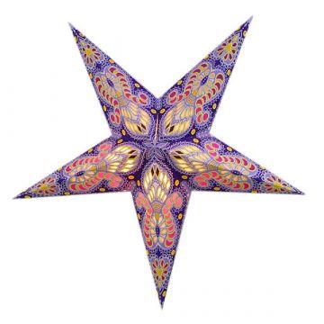 Leuchtstern ganesha lila mit Magnetverschluss