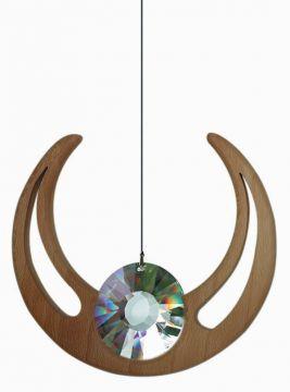 Holz-Kristall-Objekt Raphael