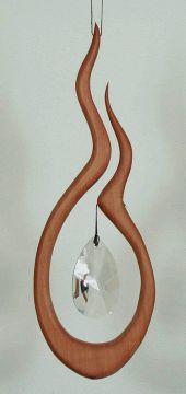 Holz-Kristall-Objekt Shakti