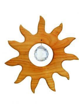 Holz-Kristall-Objekt Sonne