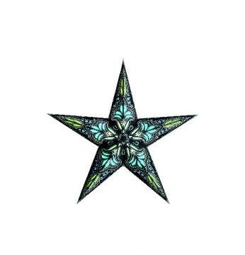 starlightz® Leuchtstern jaipur black turquoise