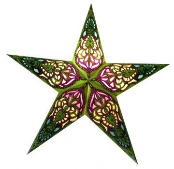Leuchtstern sumita grün/Glitter