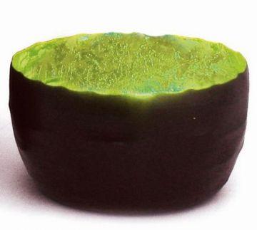 Creative Tealights - Teelichtschale Livy, Innen grün