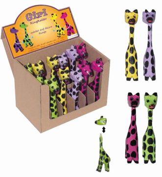 Ringhalter Giraffe, bunt