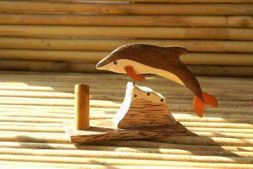 Intarsien-Stifthalter Delphin