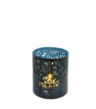 Creative Tealights - Paisley türkis, ca. 6,5 x 6 cm