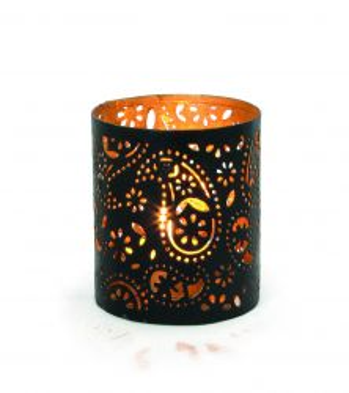 Creative Tealights - Paisley gold, ca. 6,5 x 6 cm