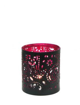 Creative Tealights - Paisley pink, ca. 6,5 x 6 cm
