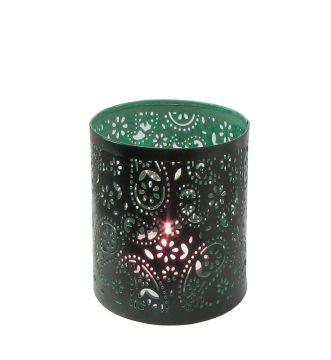 Creative Tealights - Paisley grün, ca. 6,5 x 6 cm