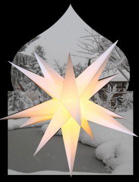 Big outdoor Adventstern/Gartenstern in weiß