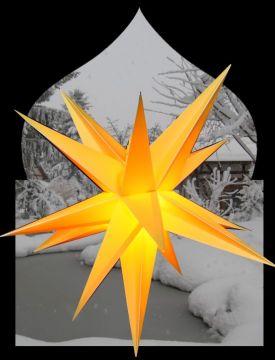Leuchtstern BIG Outdoor Adventstern, gelb