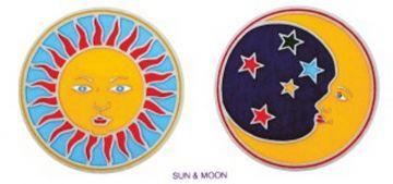 Sun & Moon, Aufkleber, 2er Set
