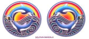 Fensterbild Dolphin Mandala