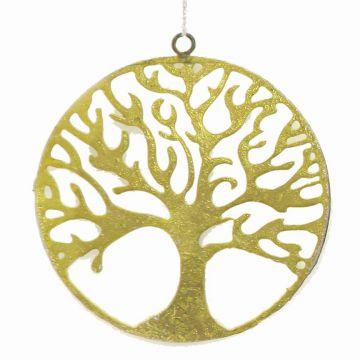 Metallanhaenger Lebensbaum, gruen