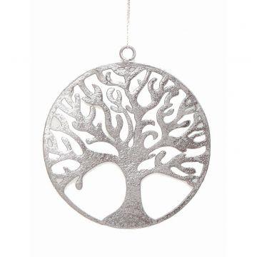 Baum des Lebens - Metallanhaenger silber