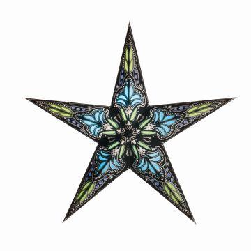 starlightz® Leuchtstern small jaipur black/turquoise