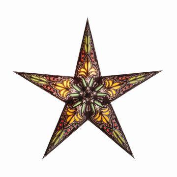 starlightz® Leuchtstern small jaipur brown/yellow