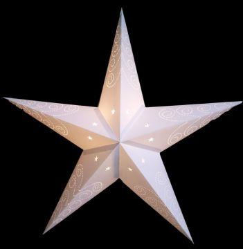 Leuchtstern shanti Sterne und Spiralen, weiß