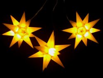 Leuchtsterne StarLED Lichterkette 3er gelb