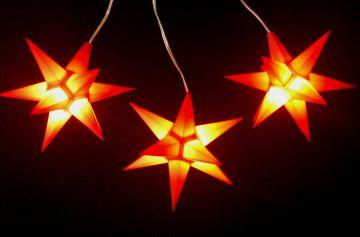 Leuchtsterne StarLED Lichterkette 3er rot