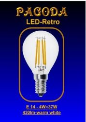 pagoda LED Birne E 14, 4 Watt Retro