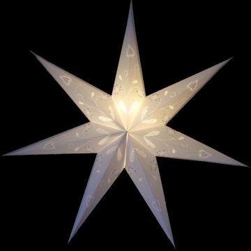 Leuchtstern Baby marylin weiß, 7 Zack, ca. 40 cm