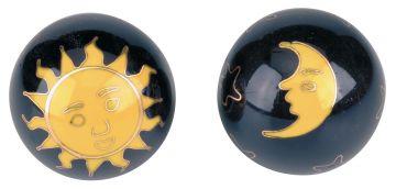 Qigong-Kugelpaar, Sonne & Mond ca. 40 mm