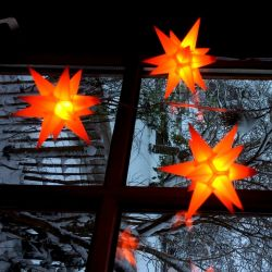 Leuchtsterne StarLED Lichterkette 10er Set orange