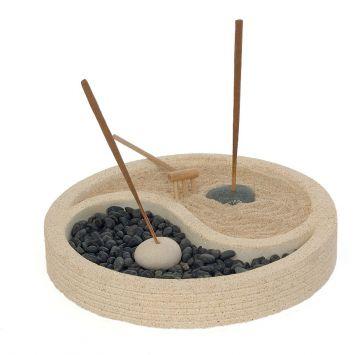 Räucherstäbchenhalter Yin-Yang groß