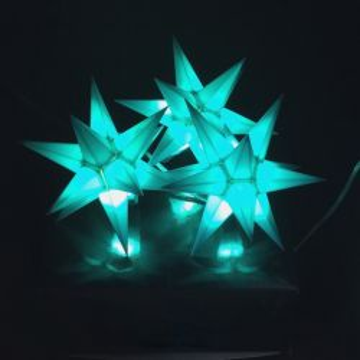 Leuchtstern Starled 3er Lichterkette türkis