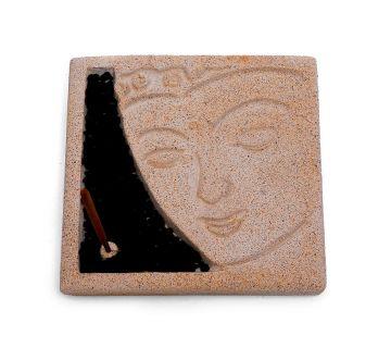 Räucherstäbchenhalter Buddha-Gesicht