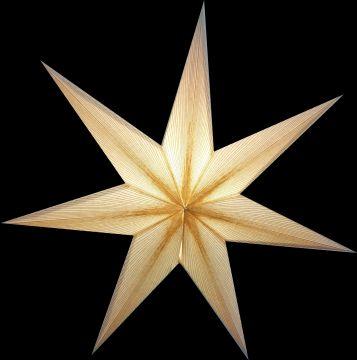 Leuchtstern Melchior weiß/ Goldglitter