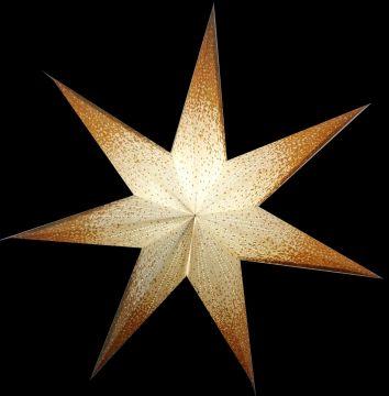 Leuchtstern Meteor Goldcrash weiß